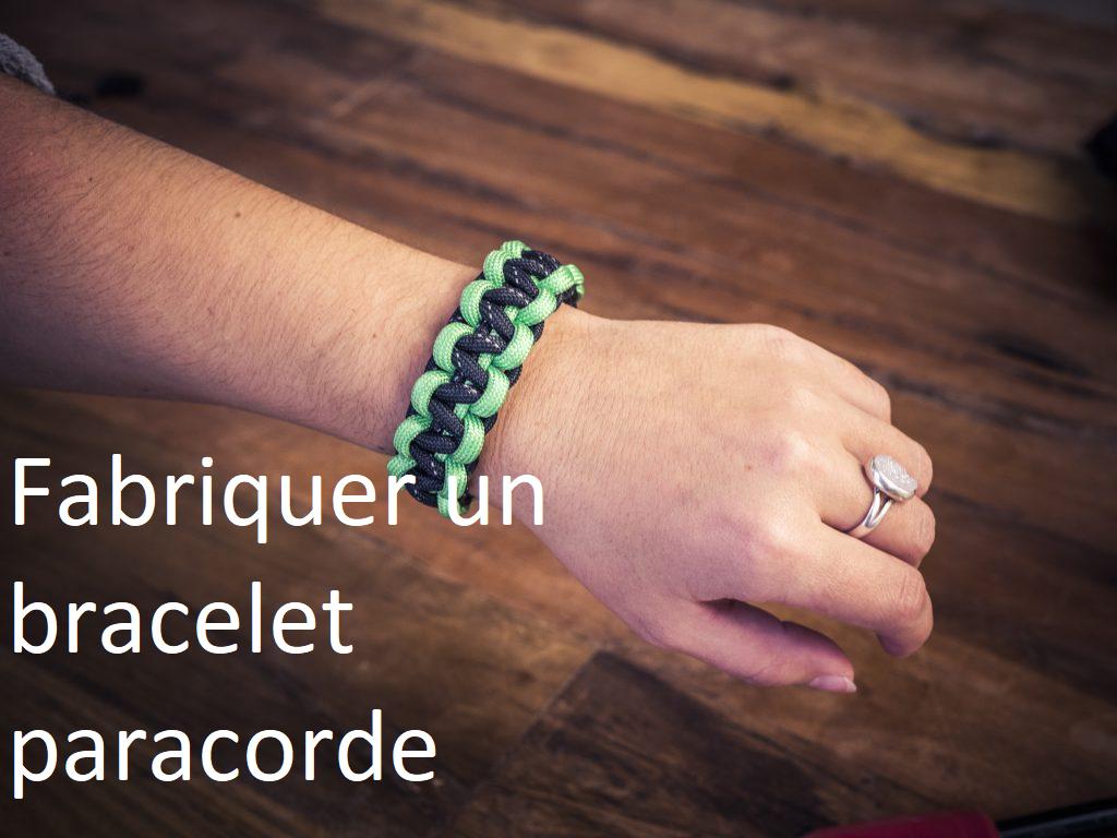 Fabriquer bracelet paracorde